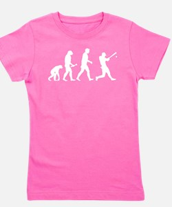 Baseball Evolution Girl's Tee