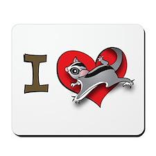 I heart sugar gliders Mousepad