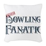 Bowling Fanatic Woven Throw Pillow