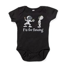 F is for Fencing Baby Bodysuit
