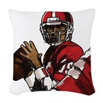 Football Players Woven Throw Pillow