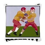 Addicted To Football Woven Throw Pillow