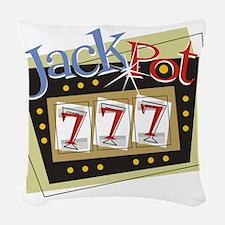 Jackpot 777 Woven Throw Pillow