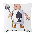 Ace Of Spade (Got Luck?) Woven Throw Pillow