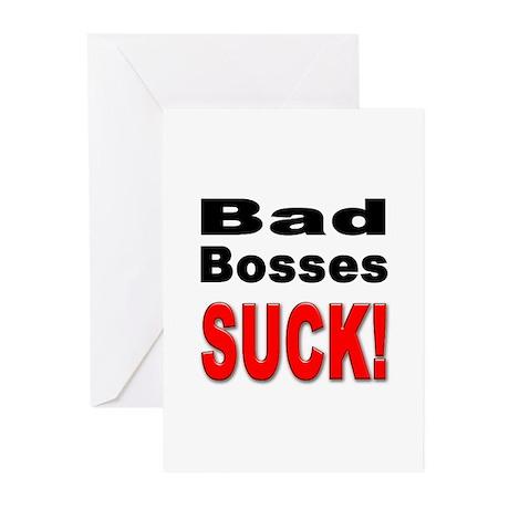 Bad Bosses Suck Greeting Cards (Pk of 10)