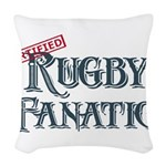 Rugby Fanatic Woven Throw Pillow