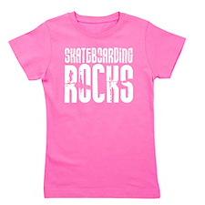 Skateboarding Rocks Girl's Tee