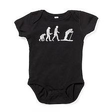 Skiing Evolution Baby Bodysuit