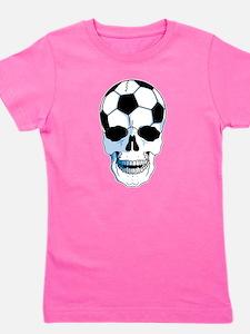Soccer Skull Girl's Tee