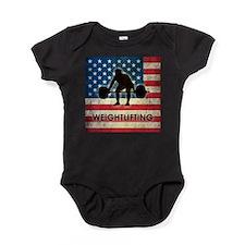 Grunge USA Weightlifting Baby Bodysuit