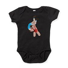 Stylized Wrestling Baby Bodysuit