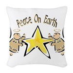 Angel Peace On earth Woven Throw Pillow