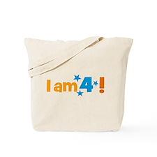I am 4! Tote Bag