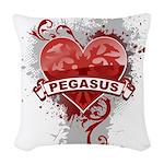 Heart Pegasus Woven Throw Pillow