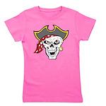 Pirate Skull Girl's Tee