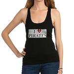 I Love Pirates Racerback Tank Top