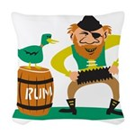 Funny Pirate Woven Throw Pillow