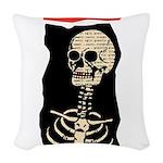 Skeleton Woven Throw Pillow