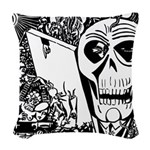 Gothic Skull Art Woven Throw Pillow