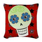 Skull Woven Throw Pillow