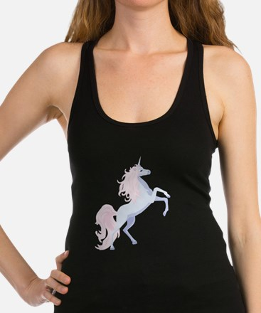 Cute Unicorn Racerback Tank Top