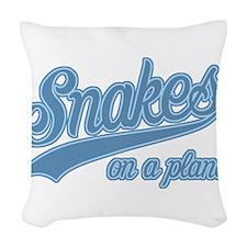 Retro Snakes On A Plane Woven Throw Pillow