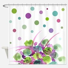 Atom Flowers #28 Shower Curtain