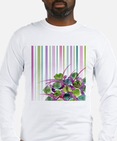Atom Flowers #28 Long Sleeve T-Shirt
