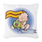Cute Aquarius Woven Throw Pillow