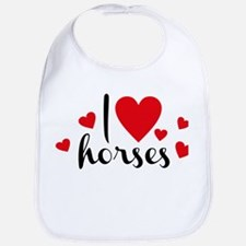 I love horses Bib