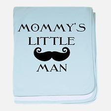 Mommys little man baby blanket