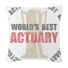 World's Best Actuary Woven Throw Pillow