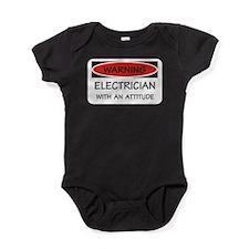 Attitude Electrician Baby Bodysuit