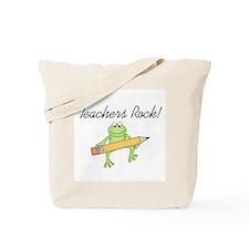 Frog Teachers Rock Tote Bag