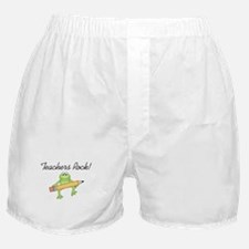 Frog Teachers Rock Boxer Shorts