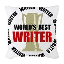 Best Writer Woven Throw Pillow