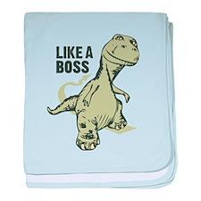 Like a Boss Dinosaur T Rex baby blanket