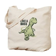 Like a Boss Dinosaur T Rex Tote Bag