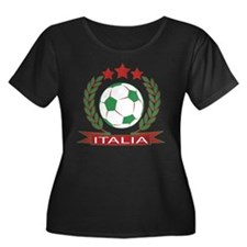 Retro Italian soccer design Plus Size T-Shirt