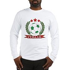 Retro Italian soccer design Long Sleeve T-Shirt