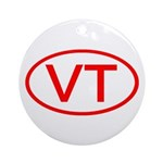 VT Oval - Vermont Ornament (Round)