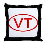VT Oval - Vermont Throw Pillow