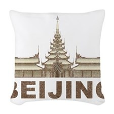 Vintage Beijing Temple Woven Throw Pillow