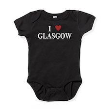 I Love Glasgow Baby Bodysuit