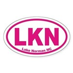 Lake Norman NC Euro Oval Sticker