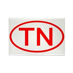 TN Oval - Tennessee Rectangle Magnet (10 pack)