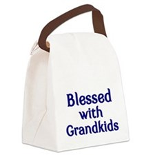 Blessed wilth Grandkids Canvas Lunch Bag