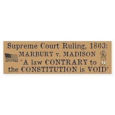 Marbury v. Madison Car Sticker