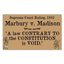Marbury v. Madison Decal