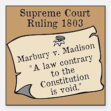 """Marbury v. Madison Square Car Magnet 3"""" x 3"""""""